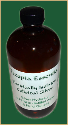 Electrically isolated colloidal silver